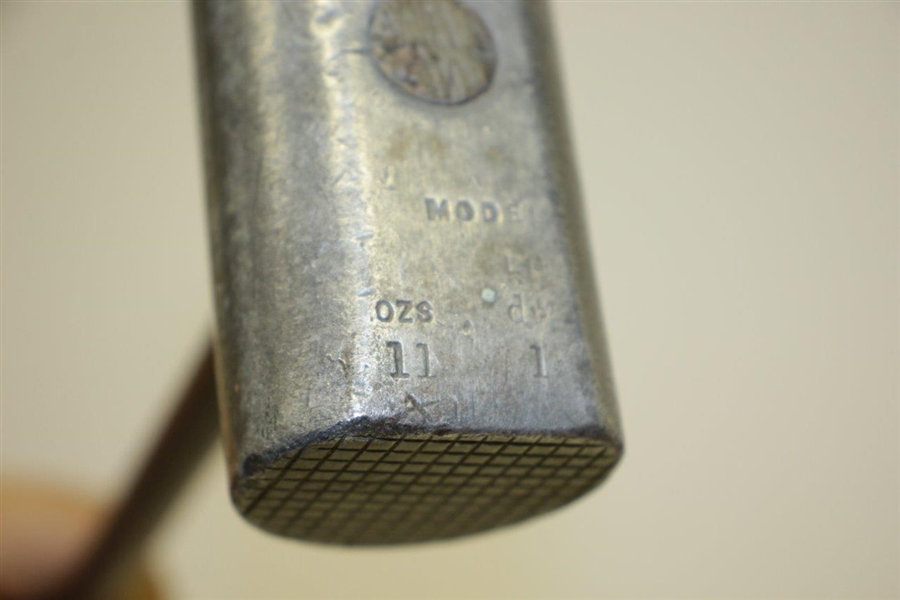 Circa 1904 A Mills / Standard Golf Patent Sunderland Mallet Head Putter w/ Shaft Stamp