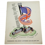1935 Ryder Cup at Ridgewood CC Program (Hagen Captain) - Top Condition, Toughie