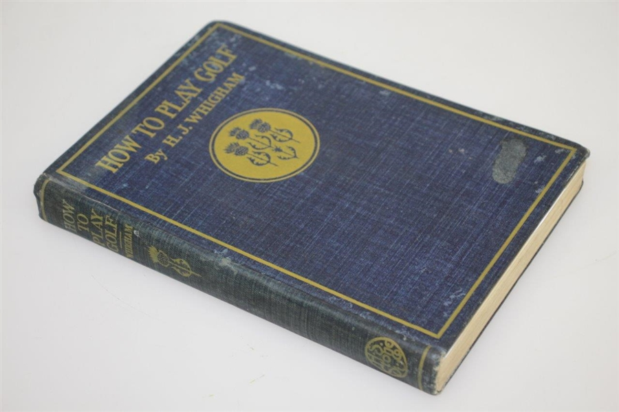 1897 'How to Play Golf' Book by H.J. Whigham
