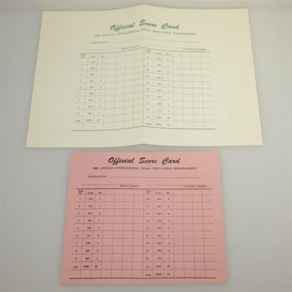 1962 Texas Open Program w/ Scorecard - Arnold Palmer Win