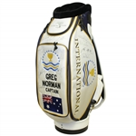 Greg Normans Personal 2009 Presidents Cup Bag Signed by International Team JSA ALOA