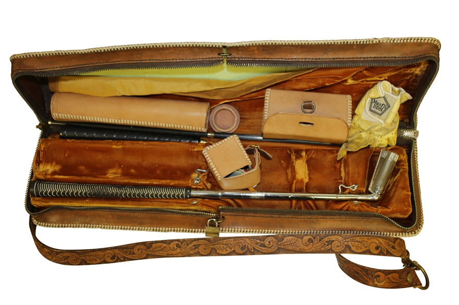 Adjustable Prototype Club in Hand Tooled Leather Case by Coats & Clark Super Stick
