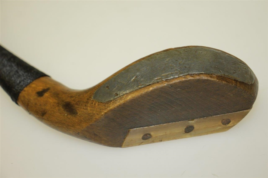 Circa 1890's A. Bussey & Pinder Long Nose Putter London w/ Putter Shaft Stamp