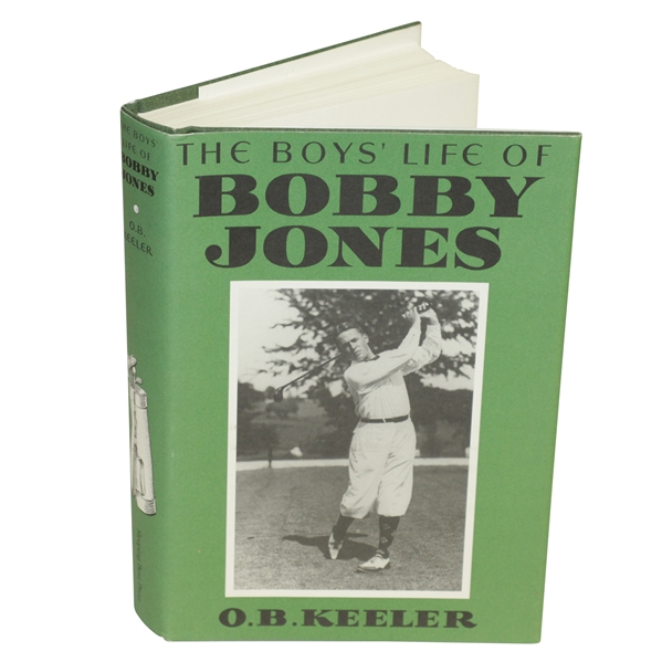 'The Boys' Life of Bobby Jones' by O.B. Keeler Book 2002 Printing w/ Dust Jacket
