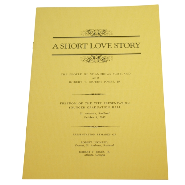 1958 A Short Love Story - The People of St Andrews & Bobby Jones Book