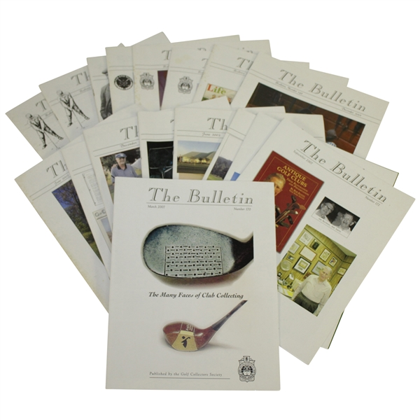 The Bulletin Issues  Published by Golf Collectors Society Collection 1999 - 2007