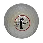 "Tiger Woods Silver ""Tee it up with Tiger"" Nike Logo Ball w/ Unique Serial Number"