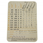 "General Eisenhower Match Used Augusta National Par 3 Scorecard - 1967 ""Last Trip To ANGC"""