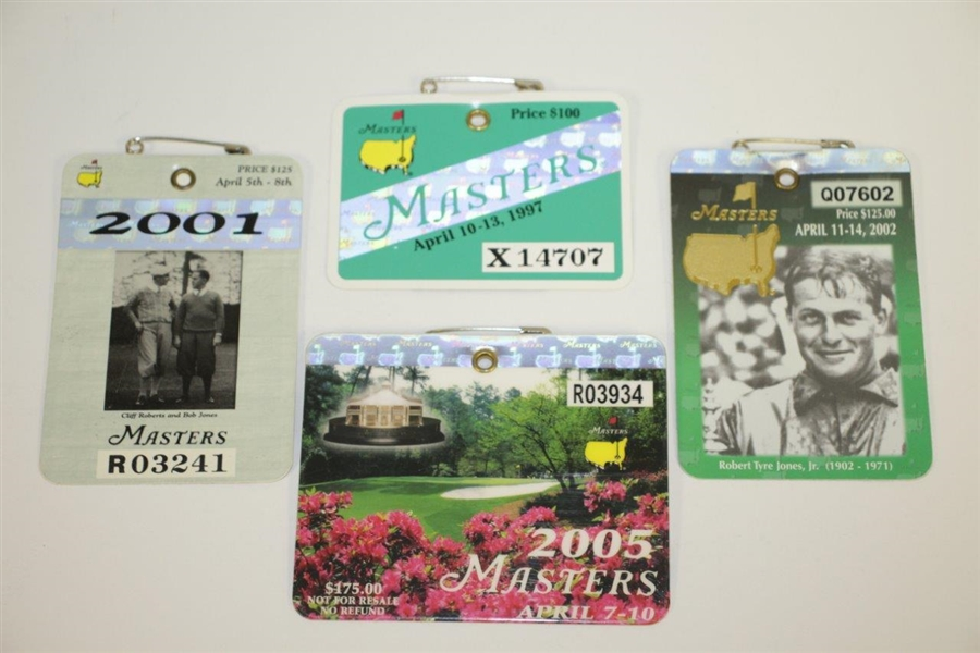 1969-2018 Masters Badges Collection - Excellent Condition with Original Pins Intact - 50 Badges!