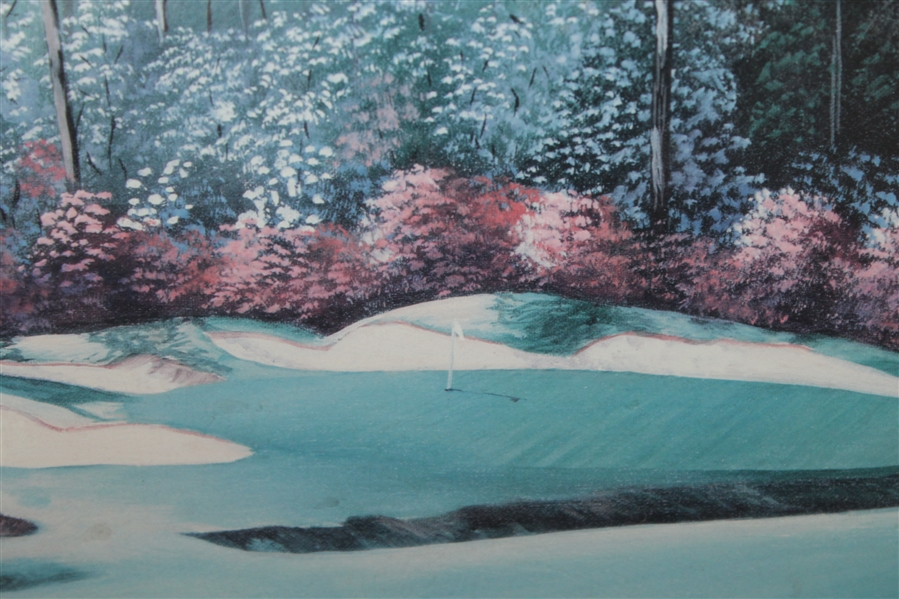 13th Hole In Full Bloom Augusta National Artist Proof Signed by Artist Bill Pendergrass