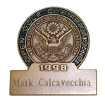 Mark Calcavecchias 1998 US Open at Olympic Club Contestant Badge