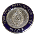Mark Calcavecchias 1994 OPEN Championship at Turnberry Contestant Badge