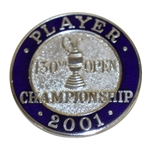 Mark Calcavecchias 2001 OPEN Championship at Royal Lytham Contestant Badge