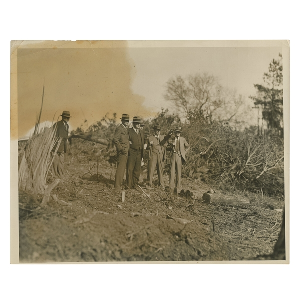 Early 1930's Augusta National Golf Club Type 1 Original Photo of Bobby Jones, Wendell P. Miller & Others Surveying