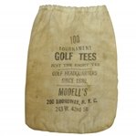 "Vintage ""Modells Just the Right Tee"" Golf Tee Bag with Tees - Broadway- Crist Collection"