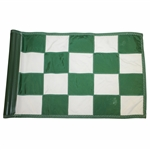 Cypress Point Embroidered Green & White Checkered Course Pin Flag