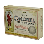 Vintage Colonel Mesh Golf Ball Box Produced in London