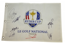 2018 Ryder Cup Flag Signed by Members of European Team JSA ALOA