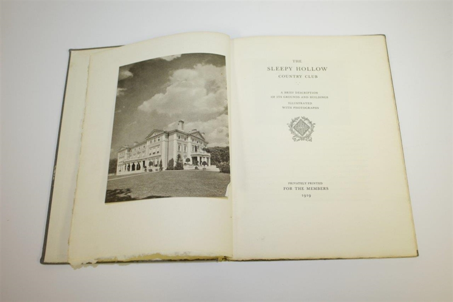 1919 The Sleepy Hollow Country Club History Book Privately Printed for Members