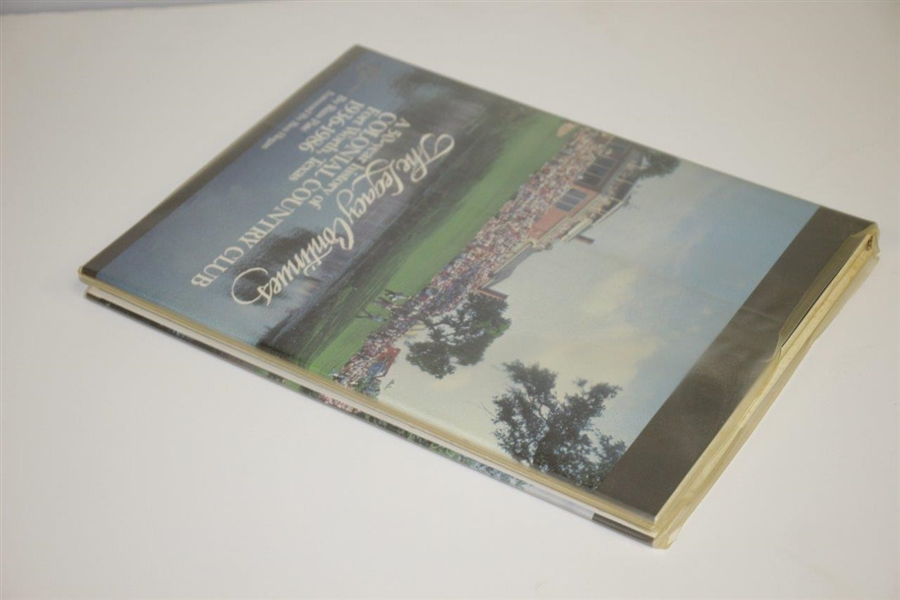 Ben Hogan Signed Colonial Country Club 'The Legacy Continues' 1936-1986 Book JSA ALOA