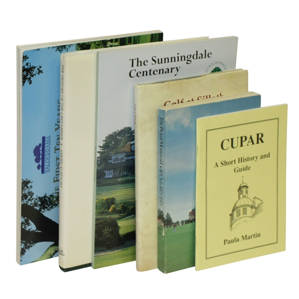 Six Club History Books from Greenbrier, Valderrama, Sunningdale & Others