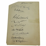 1933 Ryder Cup W/Great Britain & United States Teams Signed Album Page - CRAIG  WOOD, JH Taylor, Denny Shute, ETC JSA ALOA