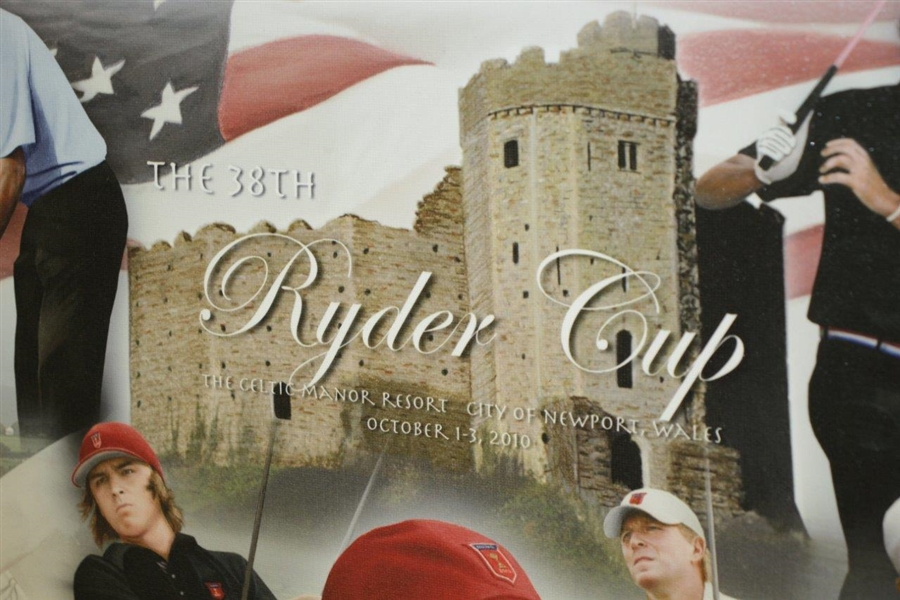2010 Ryder Cup US Team Poster with Captain Tiger Woods, Phil Mickelson & Others