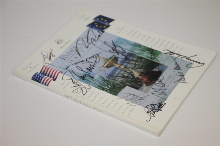 Multi-Signed 1991 Ryder Cup at Kiawah Program with Payne & others JSA ALOA