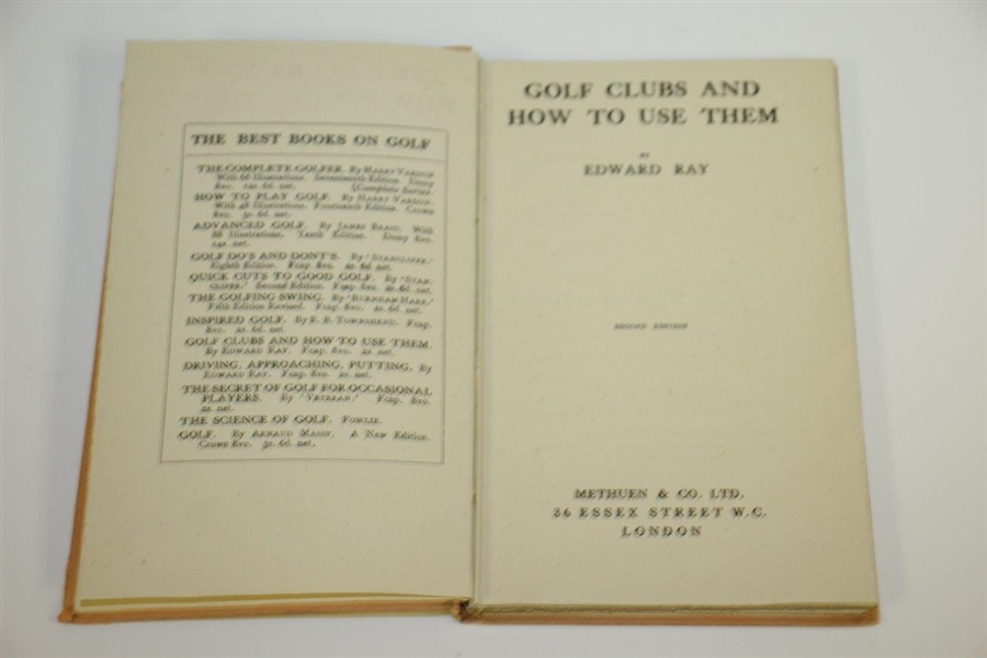 1922 'Golf Clubs and How to Use Them' Book by Edward Ray