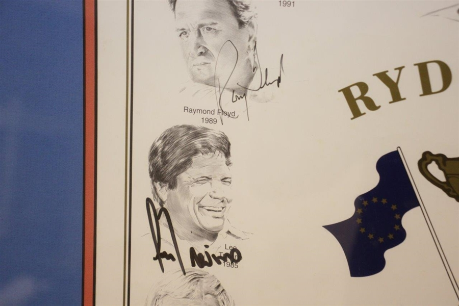 Multi-Signed 1995 Ryder Cup Captains Print by Snead, Palmer, Nicklaus, Nelson, & others JSA ALOA
