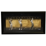 Arnold Palmer, Jack Nicklaus, & Tiger Woods Triple Signed Ltd Ed Legends of Golf Print UDA 238/250