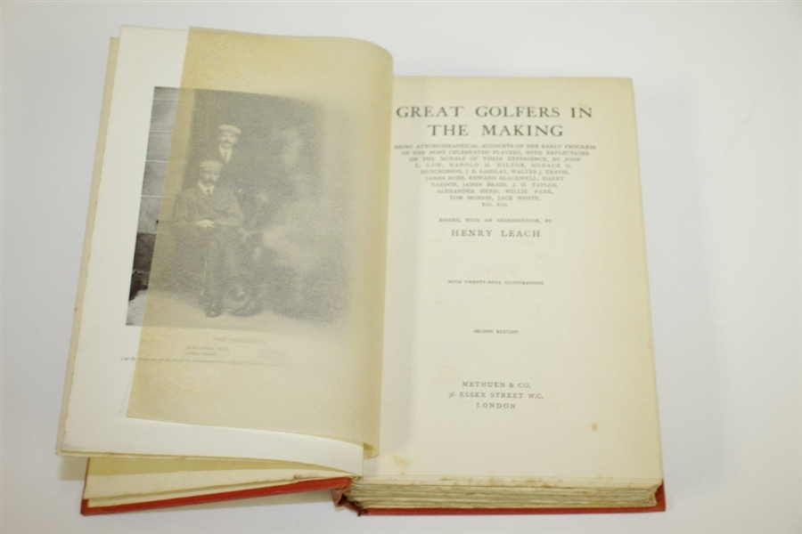 1907 'Great Golfers in the Making' Book by Thirty-Four Famous Players - Edited by Henry Leach