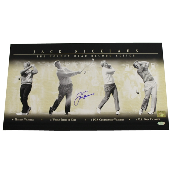 Jack Nicklaus Signed 'The Golden Bear Record Setter' Photo with Golden Bear Hologram