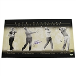 Jack Nicklaus Signed The Golden Bear Record Setter Photo with Golden Bear Hologram