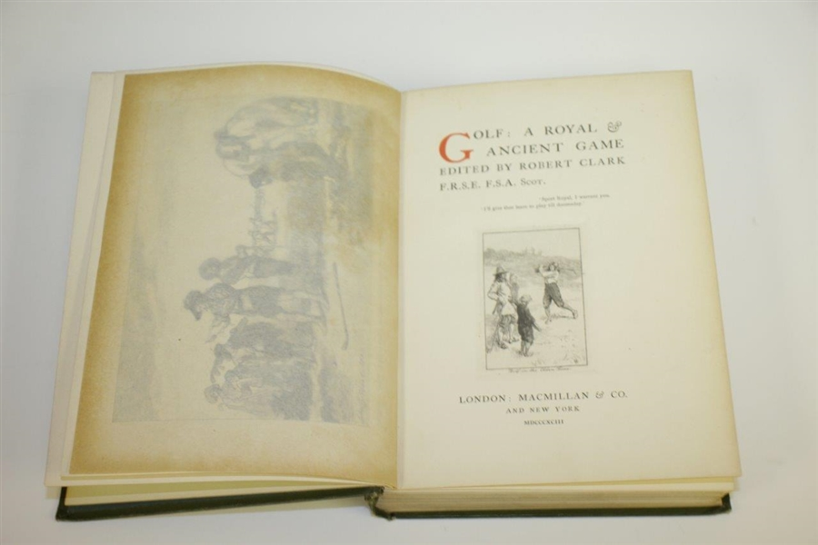 1893 Book 'Golf: A Royal and Ancient Game' Edited by Robert Clark