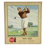 Original 1947 Bobby Jones Coca-Cola Advertising Broadside Display - Excellent Condition