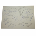 Mark Calcavecchias 2000 OPEN Champions Dinner Menu Signed by Past Winners JSA ALOA