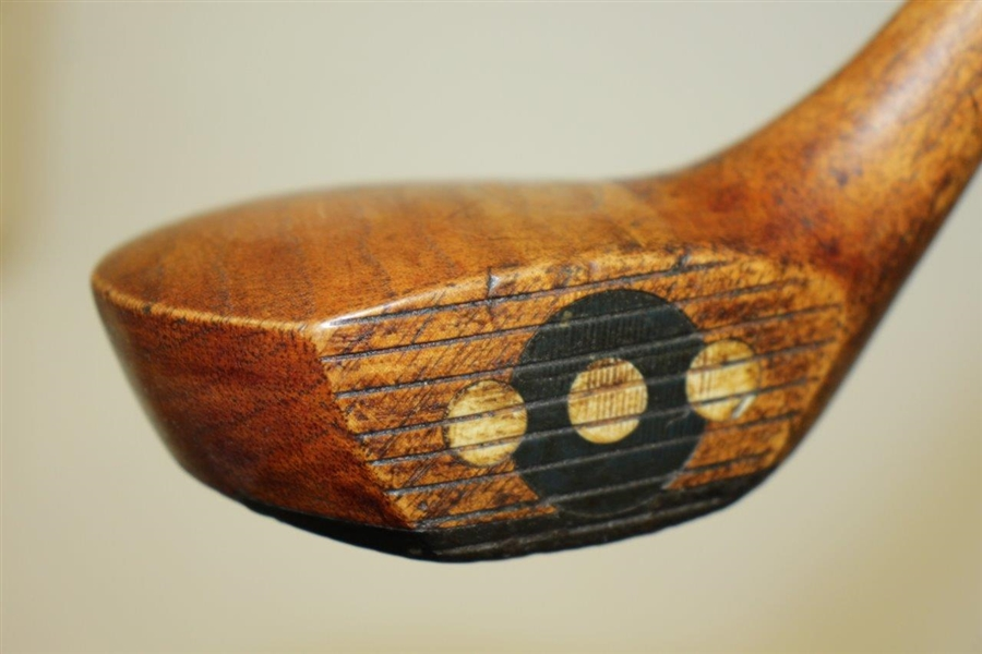 Circa 1920's MacGregor Yardsmore X-A Series Fancy Face Wood - Pat. Pending Lead Back Weight