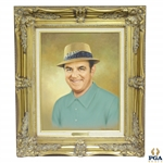 Sam Snead Original Oil on Canvas Painting by Jon Mardel - 1987 Fedigans Inv. Pro-Am