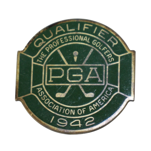 1942 PGA Championship at Seaview CC Contestant Badge - Sam Snead Winner - Rod Munday Collection