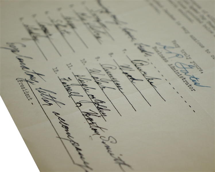 Bobby Jones Signed Handwritten 1933 Ryder Cup Team Members Endorsement Form FULL JSA #BB52086