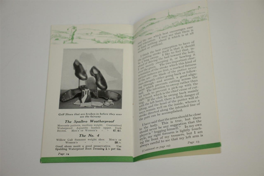 Bobby Jones 1935 'Some Tips from Bobby Jones' Golf Booklet - British Edition