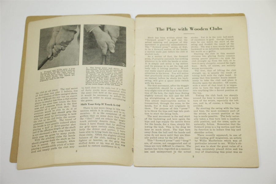 Bobby Jones 1929 'How To Play Golf' Golf Booklet
