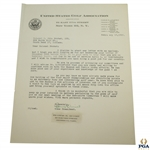 Francis Ouimet Signed Typed 1946 Letter to Colonel Probst with the USGA JSA ALOA