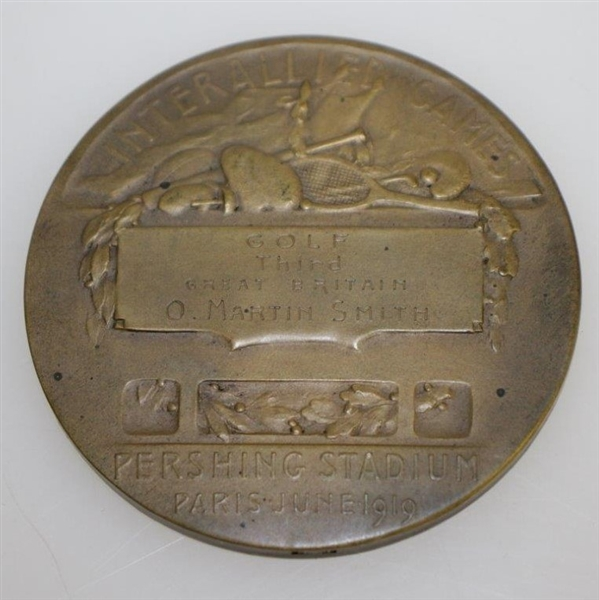1919 Inter-Allied Games Bronze Medal Awarded to O. Martin Smith - Great Britain