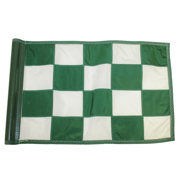 Cypress Point Golf Club Course Used Green/White Checkered Flag