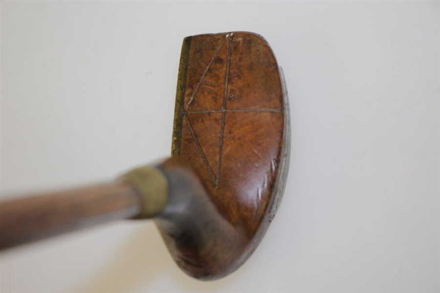 Shmilley Bent Bent Neck Wood Putter with Brass Face Plate