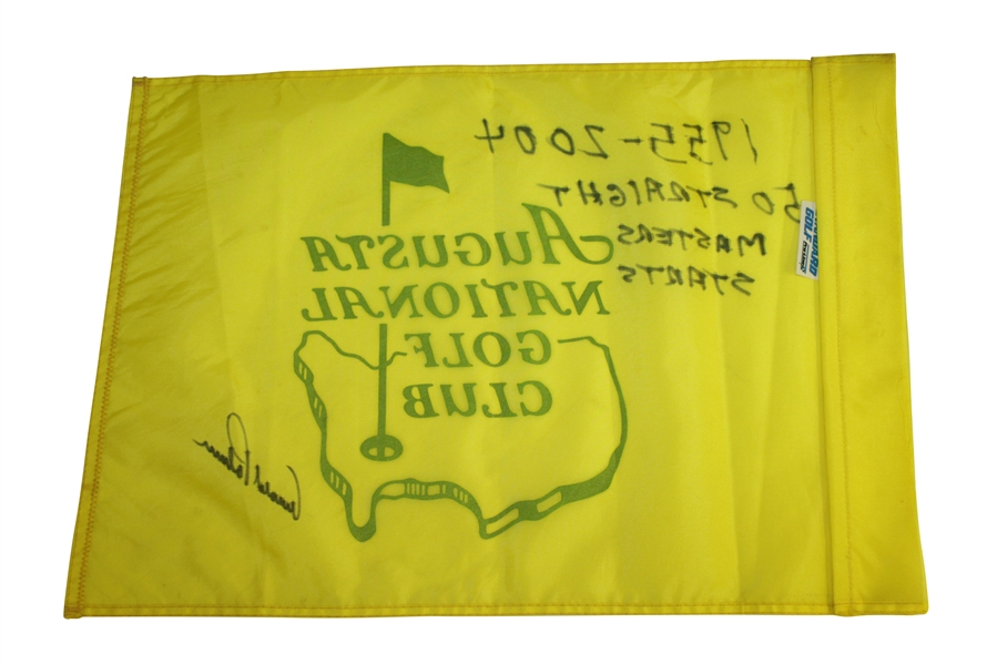 Arnold Palmer Signed Augusta National Couse Flown Flag JSA ALOA