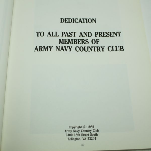1989 Army-Navy Country Club 75 Years Book