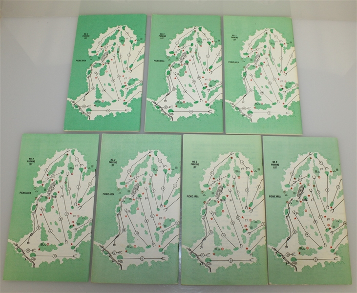 Seven Masters Spectator Guides - 1980, 1981, 1982, 1983, 1984, 1985, & 1987